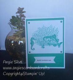 Angie's Cards and Crafts: Team Stamp It Father's Day Blog Hop; Stampin Up; By the Tide stamp set