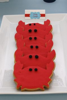 """Photo 5 of 30: Nautical / Baby Shower/Sip & See """"Nautical Crab Baby Shower""""   Catch My Party"""