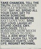 Regret nothing...