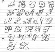 Fancy Tattoo Lettering Alphabet Font Script