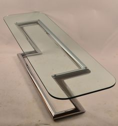 Tubular Chrome Base Plate Glass top Cocktail Table image 2