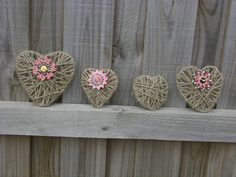 DK's Craft Café: Valentine's Crafts 2 - Easy Made Hearts--shape the wire and wrape it with twine or raffia