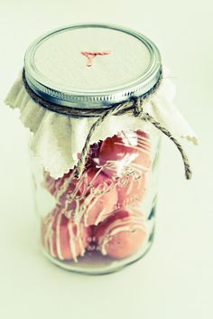 cake balls look pretty packaged in a jar~