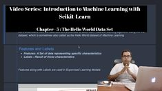This video contains Chapter - 5 which introduces us to Hello World DataSet from Scikit Learn called Iris Dataset.  In this video, I've explained how the dataset shall look like when we want to use the same with Machine Learning algorithms provided by Scikit Learn. I've used the Iris DataSet provided by Scikit Learn for the same