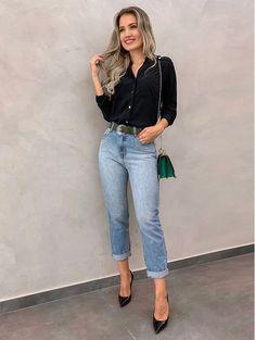 4e0606522 53 melhores imagens de calça mom em 2019 | Feminine fashion ...