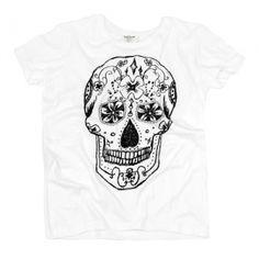 t-shirt SUGAR SKULL Sugar Skull, Heels, Mens Tops, T Shirt, Fashion, Moda, Tee, Shoes Heels, Fasion