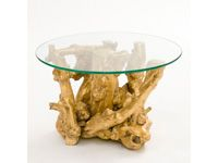 Stark Table, XII Side Table, Guilded Paint with Glass top