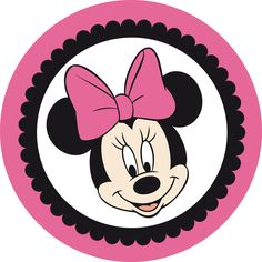 Minnie Rosa Y Negro - Minnie Mouse Circle Frame Clipart - Full Size Clipart ( - PinClipart Minnie Mouse Template, Minnie Mouse Stickers, Mickey E Minnie Mouse, Theme Mickey, Minnie Png, Disney Mickey, Mickey Mouse Drawings, Minnie Mouse Pictures, Free Printable Banner
