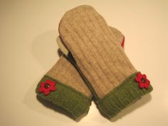 Clio Wool Mittens women med/lg  MMC404 by MichMittensbyLauri, $23.00