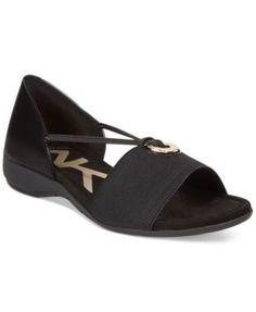 9cb5fc96a6b47c Anne Klein Kameko Stretch Sandals Shoes - Sandals   Flip Flops - Macy s