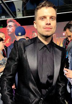 "sebastiastan: """"Sebastian Stan attends the Avengers: Infinity War Premiere in Los Angeles on April 2018 "" "" Sebastian Stan, Bucky Barnes, Barnes Marvel, Beautiful Boys, Pretty Boys, Golden Trio, Z Movie, Winter Soldier Bucky, Man Thing Marvel"
