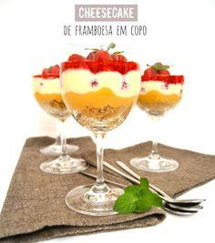 Sweet Gula: Cheesecake de Framboesa em Copo