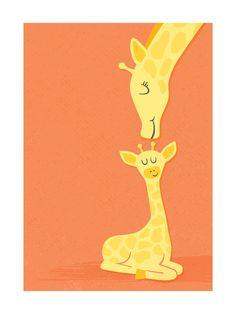 Wee Little Giraffe Art Print by Jessie Steury Giraffe Drawing, Giraffe Art, Baby Shower Giraffe, Little Giraffe, Design Research, Art Drawings, Drawing Art, Art And Illustration, Art Wall Kids