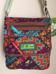 LILY BLOOM Patched Shapes Tablet Case Crossbody Women Bag Multi-color. #LilyBloom #MessengerCrossBody