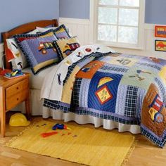 Construction Bedding by Pem America - Childrens Full/Queen Bedding - qs0820ctfq-2300