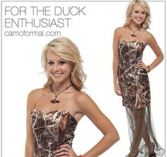 Realtree Max-4 Camo Formal, Renewal Wedding, Camo Wedding, I Got Married, Country Girls, My Favorite Color, Strapless Dress, Classy, Prom