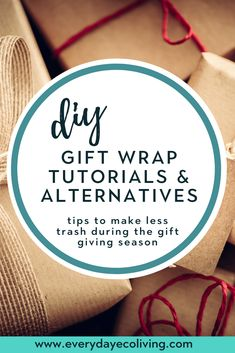Tired of all the waste associated with the holidays? Check out this roundup of diy gift wrap alternatives that won't leave a bunch of waste behind. Cardboard Gift Boxes, Paper Gift Box, Paper Gifts, Green Living Tips, Natural Parenting, Fabric Gifts, Paper Tape, Holiday Traditions, Eco Friendly