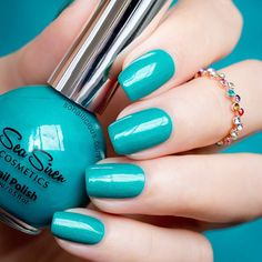 A stunning sea green nail polish - Sea Siren Jealousea (5-free Australian indie)  #green #nails #nailart