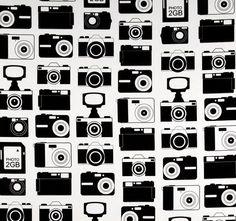Tela FQ :: cameras in black :: de nosgustanlosretros por DaWanda.com