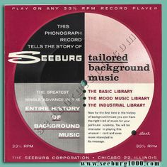 From Seeburg1000 - Tailored Background Music Side A at Seeburg1000.com