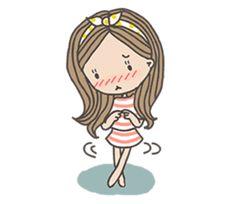 Daisy Love, Cartoon, Stickers, Funny, Cute, Cards, Fictional Characters, Female, Kawaii Drawings