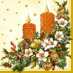 3605 Servilleta decorada Navidad
