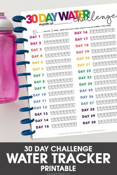 Do you struggle to drink enough water every day? Using the free printable Water Tracker, you can make water drinking part of your daily routine.
