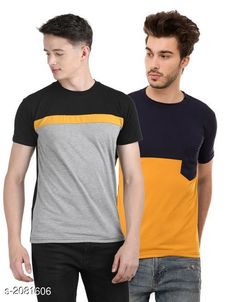 Checkout this latest Tshirts Product Name: *Fancy Men's Cotton Blend Tshirts Combo* Fabric: Cotton Blend Sleeve Length: Short Sleeves Pattern: Printed Multipack: 2 Sizes: S, M, L, XL Country of Origin: India Easy Returns Available In Case Of Any Issue   Catalog Rating: ★3.9 (1033)  Catalog Name: Stylish Fancy Men's Cotton Blend Tshirts Combo Vol 16 CatalogID_275653 C70-SC1205 Code: 493-2081606-579