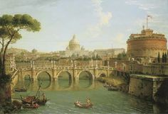 Antonio Joli (Modena c. 1700-1777 Naples)  Rome, a view of the Tiber looking downstream with the Castel and Ponte Sant' Angelo, Saint Peter's Basilica and the Vatican, Santo Spirito in Sassia and the Janiculum beyond Price realised  USD 1,021,500 Estimate USD 500,000 - USD 700,000