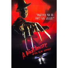 Pôster A Hora do Pesadelo - Em versão teaser. A Nightmare on Elm Street, filme de 1984, do gênero #terror, dirigido e escrito por Wes Craven.
