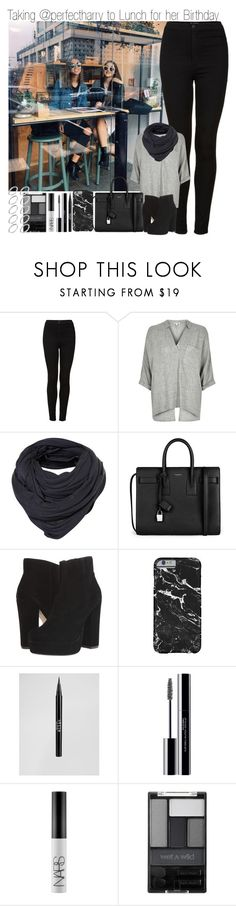 """""""Taking @perfectharry to Lunch for her Birthday"""" by elise-22 ❤ liked on Polyvore featuring Topshop, River Island, Yves Saint Laurent, Steve Madden, Stila, shu uemura, NARS Cosmetics, Wet n Wild, ASOS and birthday"""