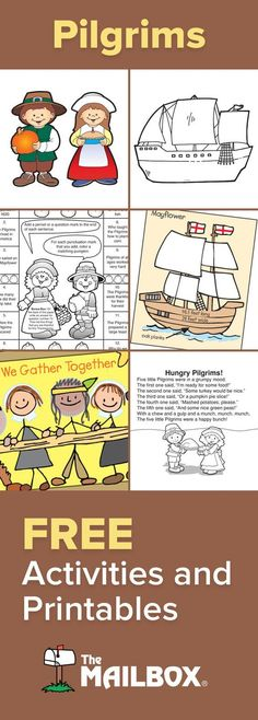 This November get a variety of worksheets, centers, and activities for your Pilgrim study! #themailbox