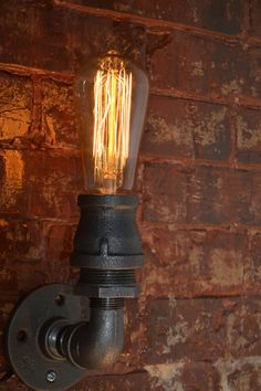 Industrial Sconce  Steampunk Wall Sconce  by WestNinthVintage, $72.00