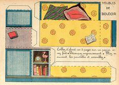 Vintage paper toys I. 3d Paper, Paper Toys, Paper Crafts, Paper Doll House, Paper Houses, Barbie Paper Dolls, Vintage Paper Dolls, Paper Furniture, Doll Furniture