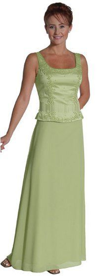 Cheap Sage Mother of Groom Dress Bride Tank Straps Sage Formal Long $109.99 (is there black?)