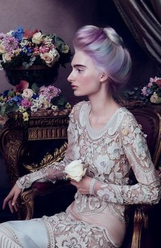 "Aveda ""Sublime Spirit"" fall '15 campaign. Fine art meets modern day makeup in a stunning campaign - Fashionising.com"