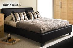 instead of for a black or brown Roma double bed & Ortho mattress, or for a king bed & mattress from Wowcher Shop - save Single Divan Beds, Leather Bed Frame, Bedroom Furniture, Bedroom Decor, Double Bed Designs, Home Comforts, Bed Mattress, Double Beds, Bed Sizes