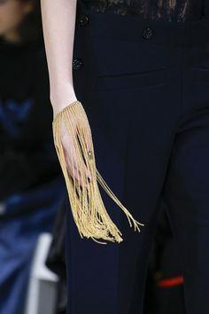Gold fringe bracelet