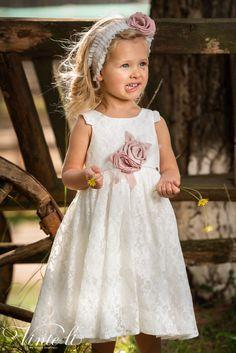 Φόρεμα βάπτισης Vinte Li 2911 μαζί με κορδέλα για τα μαλλιά, annassecret Girls Dresses, Flower Girl Dresses, Wedding Dresses, Flowers, Fashion, Dresses Of Girls, Bride Dresses, Moda, Bridal Gowns