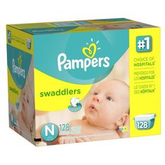 Pampers Swaddlers Diapers Size N Giant Pack 128 Count Pampers $35