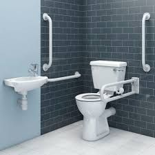 contemporary disabled toilet - Google Search Basin Mixer, Mixer Taps, Close Coupled Toilets, Lever Action, Toilet Roll Holder, Chrome, Packing, Pottery, Contemporary