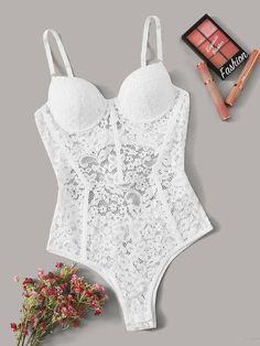Jolie Lingerie, Teddy Lingerie, Pretty Lingerie, Bra Lingerie, Women Lingerie, Men's Underwear, Romwe, Valentines Lingerie, Teddy Bodysuit