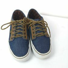 Vans Skate Board Shoes Denim Suede Sz 7 Mens Lace-up Athletic Runners #mensfashion $34.99
