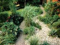 Coursed Brick Design Used for Garden Pathway