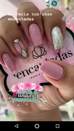 Elegant Nails, Classy Nails, Trendy Nails, Square Acrylic Nails, Cute Acrylic Nails, Cute Nails, Pink Nails, Gel Nails, Indian Nails
