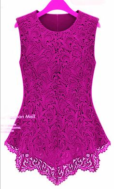 Das mulheres flared peplum camisas sem mangas crochet floral tops blusas tamanho s-3xl