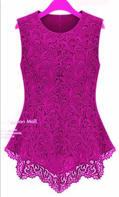 Encontre mais Vestidos Informações sobre Femininos Flared Peplum camisas sem mangas Crochet Floral Tops Blusas Tamanho S  3XL, de alta qualidade camisa dos homens, Japão blusa China Fornecedores, Barato india blusas de Smarter Trading Co.,Ltd em Aliexpress.com