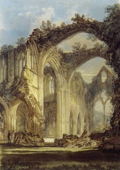 J.M.W. Turner - The Chancel and Crossing of Tintern Abbey, Looking towards the…