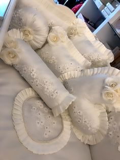 Bed Linens, Linen Bedding, Cone Template, Asian Bridal Dresses, Baby Beds, Childrens Gifts, Poufs, Ribbon Embroidery, Bedroom Furniture