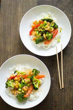 Ginger Shrimp & Broccoli Stir-Fry